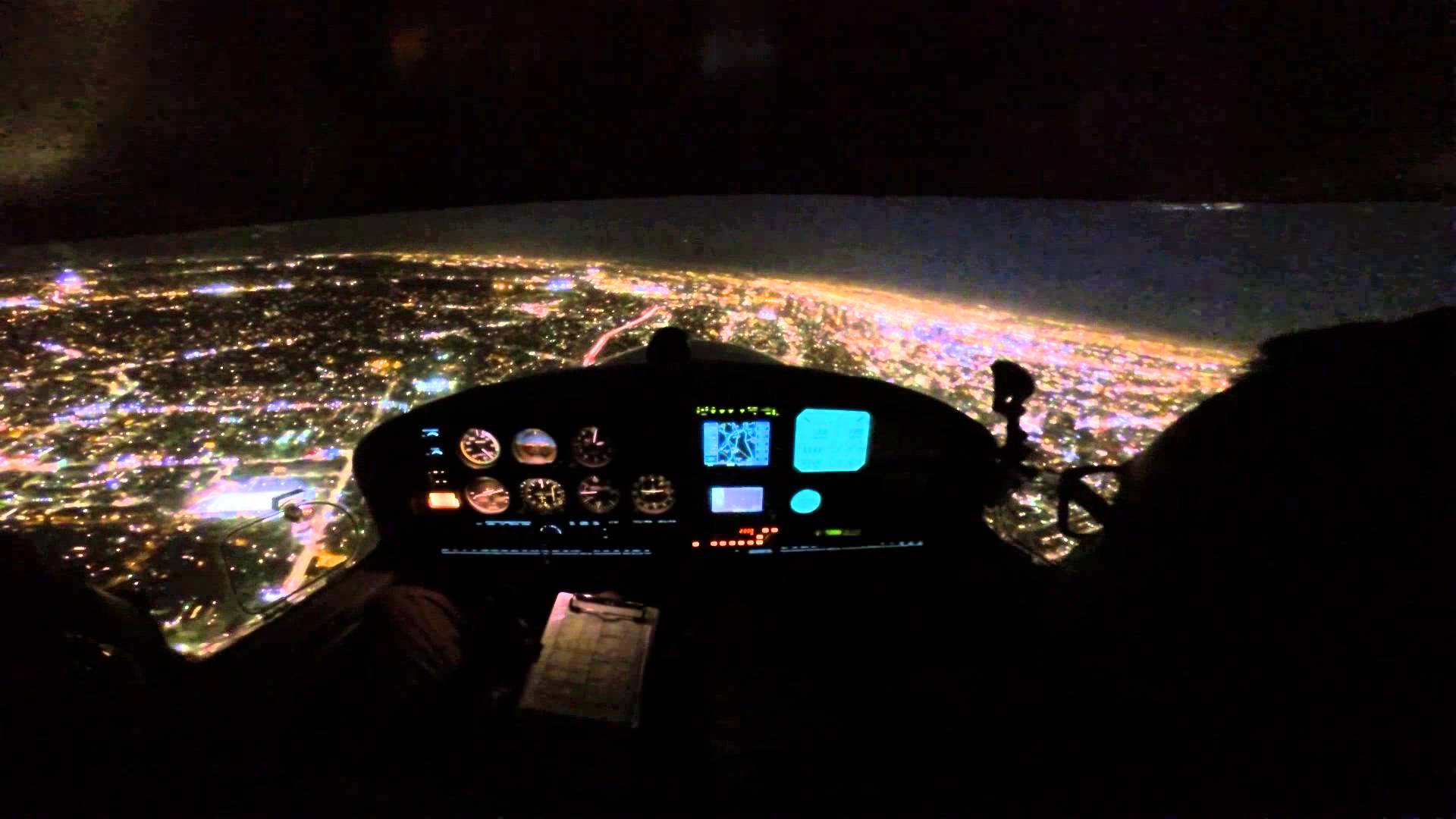 My First Night Flight In The Diamond DA40
