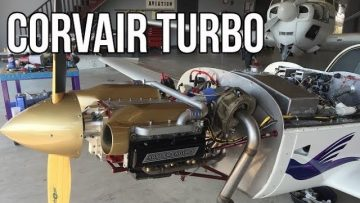 120 HP Turbocharged Corvair Spyder Aircraft Engine In The Saberwing