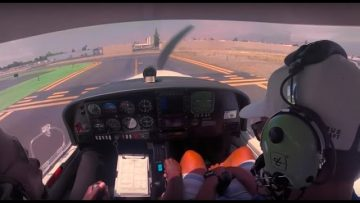 Student Pilot – First Take Off And Landing