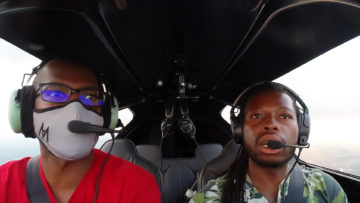 test flight before airshow