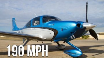 Cirrus SR22 High Performance Airplane Cruises At 190 MPH